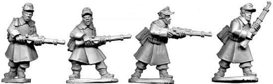 German Riflemen in Greatcoats