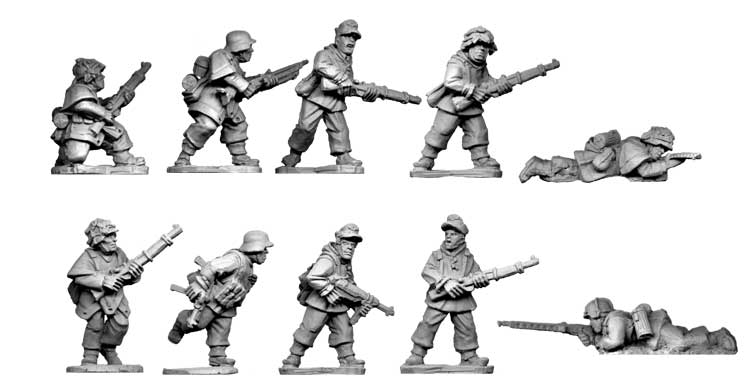Late War German Infantry Section II (in smocks)