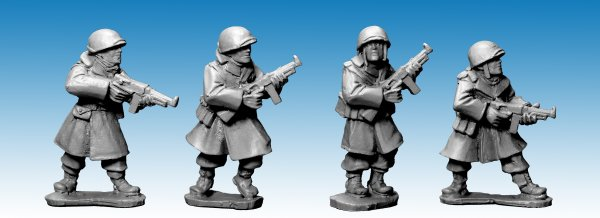 US Infantry in Greatcoats w S.M.G's