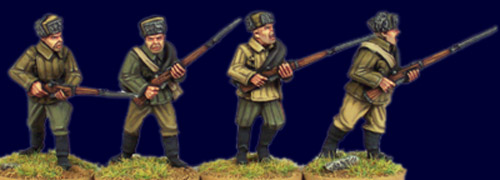 Soviet Infantry with Rifles I. (fur hats)
