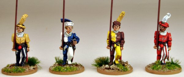 Swiss Pikemen Marching (Unarmoured)