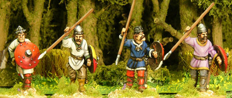 Carolingian Unarmoured Spearmen Advancing