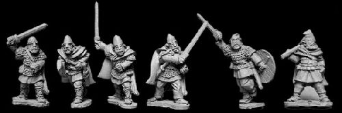 Viking Hirdmen with Hand Weapons