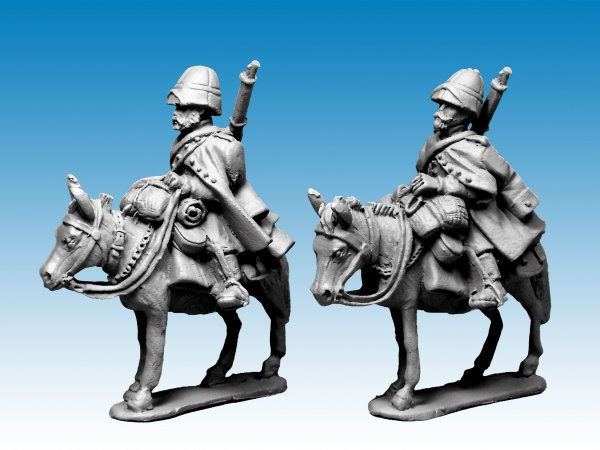 Legion Mounted Company in greatcoats and sun helmet.