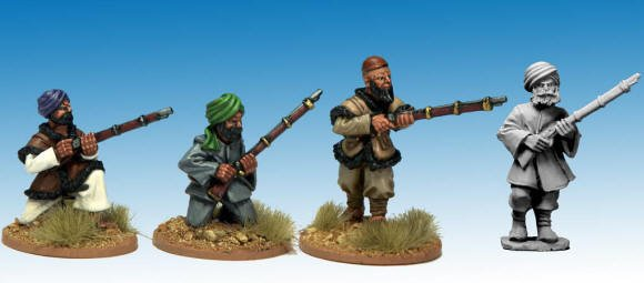 Afghan Irregulars with Muskets.