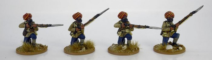 Sikh Infantry Kneeling. 2nd Afghan War.